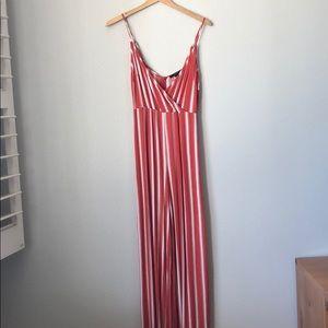 Long spaghetti strap jumpsuit